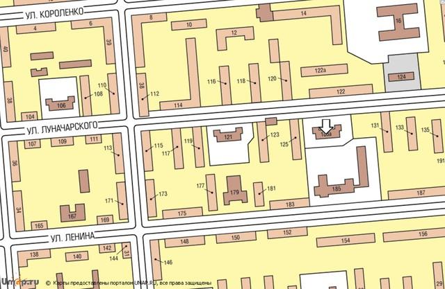 Схема проезда (Карта) - Школа-детский сад 8.